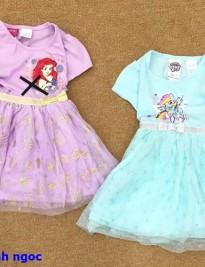 Đầm thun Disney (xanh ngọc)