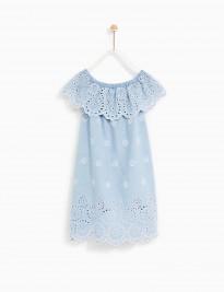 Đầm xanh Zara đục lỗ