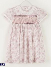 Đầm Smock chùm hoa tím hồng