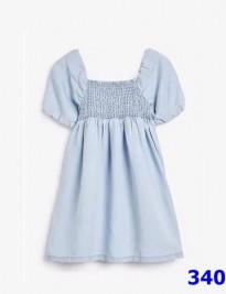 Đầm Denim Smock