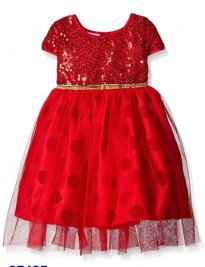 Đầm ren đỏ đính cườm Blueber