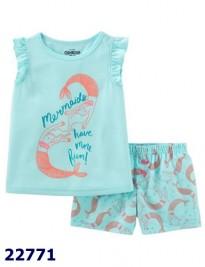 Bộ Oshkosh xanh nhạt nàng tiên cá memaids