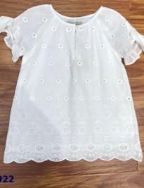 Áo váy Zara trắng thêu hoa