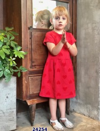 Đầm carter màu đỏ