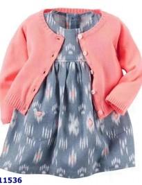 Set đầm + áo khoác Carter's