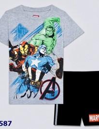 Bộ short thun Marvel