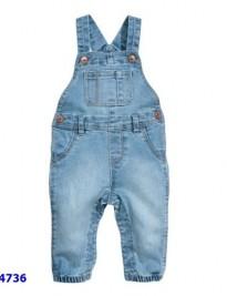 Quần yếm jeans H&M