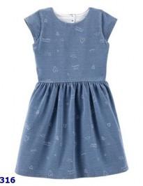 Đầm thun da cá Carters